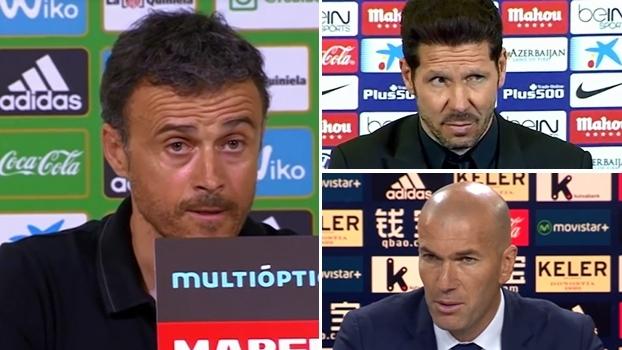 Luis Enrique crê que nenhum dos três espanhóis tropeçará; Simeone e Zidane tentam 'fazer sua parte'