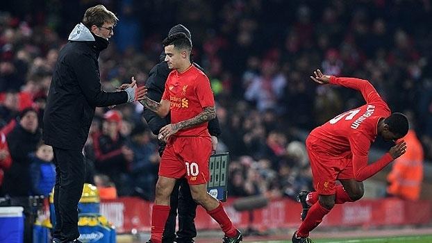 Copa da Liga Inglesa - semifinal (volta): Gol de Liverpool 0 x 1 Southampton