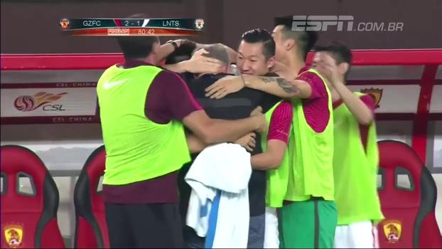 Goulart faz gol, Paulinho joga bem e Guangzhou Evergrande mantém liderança do Chinês