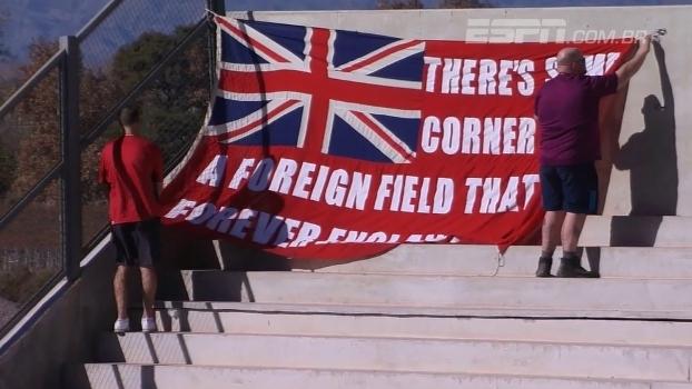 Bandeira causa polêmica em amistoso entre Argentina e Inglaterra no rugby