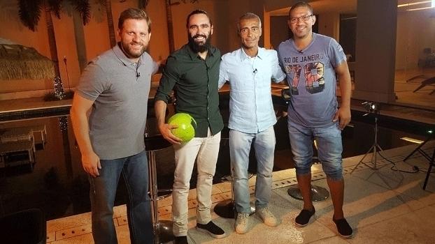 Resenha ESPN vai ao Rio e tem Romário como convidado; veja os bastidores da gravação
