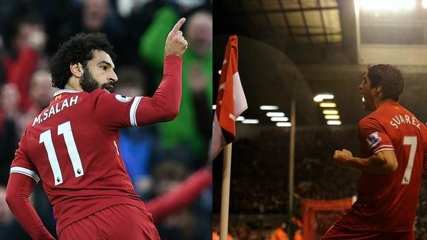 Suárez de 2013 x Salah de 2017; artilheiros em épocas diferentes pelo Liverpool se encaram na Copa