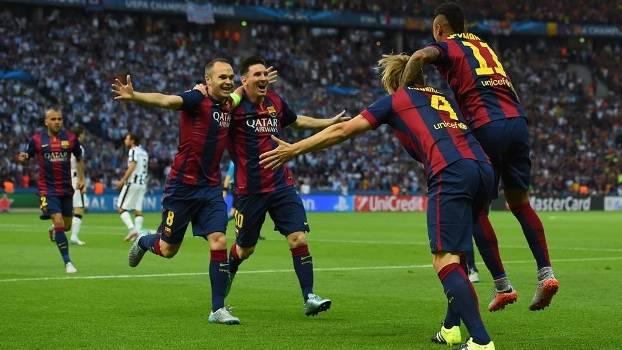 Veja os gols da vitória do Barcelona sobre a Juventus por 3 a 1!