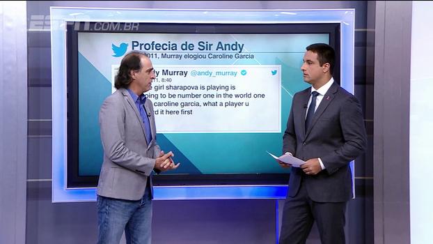 Caroline Garcia vai ser número 1 do mundo? Após elogio de Andy Murray em 2011, Fernando Meligeni opina