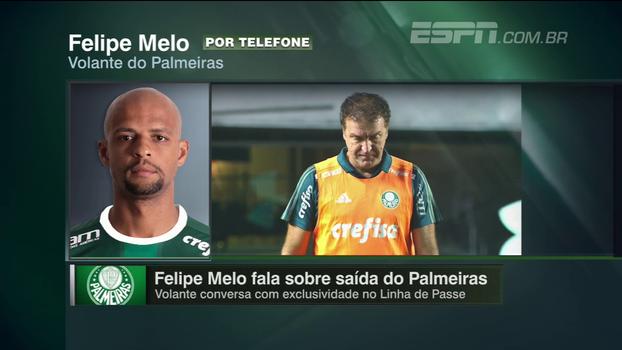EXCLUSIVO: 'Eu queria fazer uma história bonita no Palmeiras', diz Felipe Melo