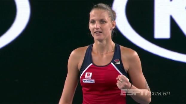 Australian Open: Melhores momentos de Pliskova 2 x 1 Ostapenko (4-6, 6-0 e 10-8)