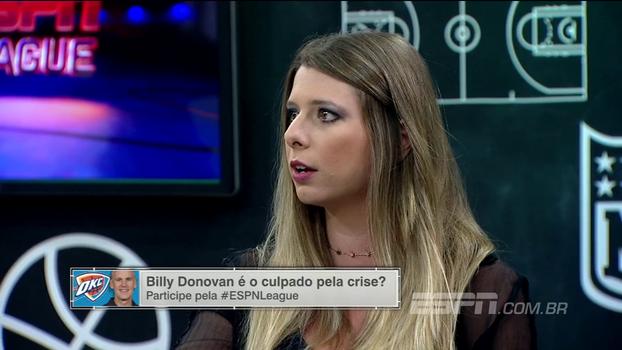 'Eu esperava mais do OKC Thunder, mas acho que é normal; claro que demora para engrenar', diz Alana Ambrosio