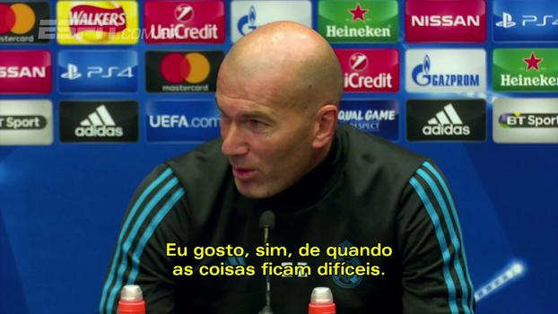 Zidane vê oscilação do Real em 'detalhes' e fala sobre lesões: 'Gosto quando as coisas ficam difíceis'