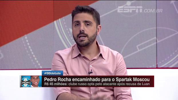 Nicola: Luan não se anima, e Spartak agora tenta levar Pedro Rocha do Grêmio