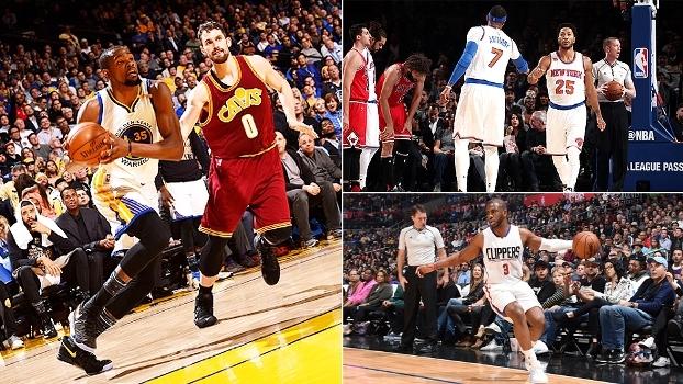 Rivalidade Warriors x Cavs, Derrick Rose desequilibrado e Clippers sem Chris Paul; veja o 'NBA Countdown Brasil'