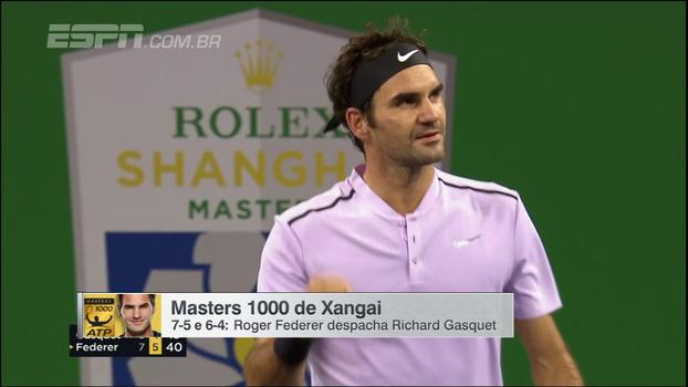 Em Xangai, Federer despacha Gasquet e encara Del Potro na semifinal