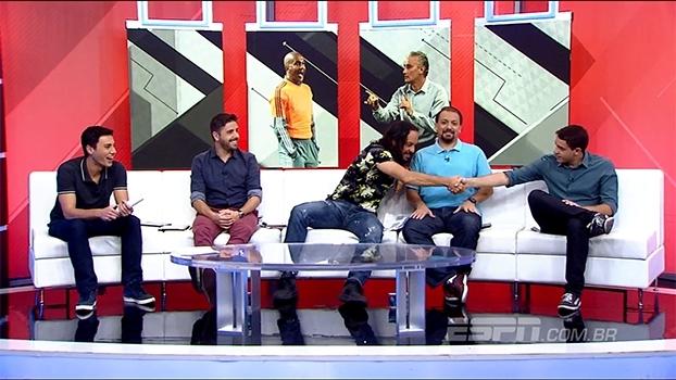Rafa Oliveira analisa Corinthians e recebe elogios de Gabriel O Pensador: 'Esse cara é bom mesmo'