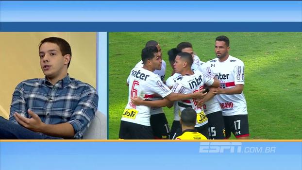 Rafael Oliveira não vê sentido em Diego Souza na função de 9 no São Paulo