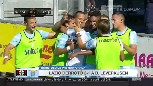 Com gol de ex-Santos e Immobile inspirado, Lazio vence Bayer Leverkusen em amistoso
