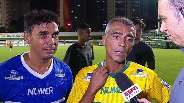 Romário e Alex Dias festejam sucesso de amistoso beneficente: 'A causa é nobre'