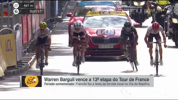 No Dia da Bastilha, francês Warren Barguil vence 13ª etapa do Tour de France