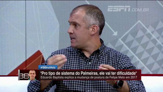 Eduardo Baptista diz não ter o que reclamar de Felipe Melo: 'Ele sempre me escutou e respeitou'