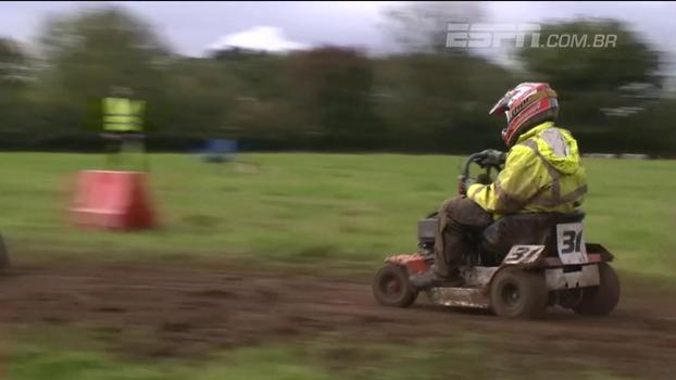 Que loucura! 'Piloto' de Luxemburgo é campeão no torneio mundial de cortadores de grama