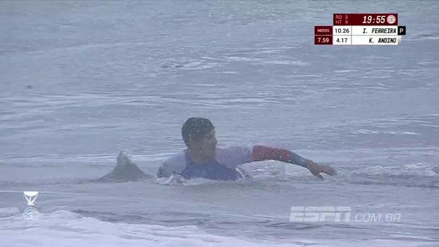 Veja imagens da vitória de Gabriel Medina sobre Josh Kerr no Havaí