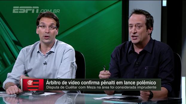 Em debate sobre pênalti para o Independiente, Arnaldo e Gian têm divergências em relação ao VAR