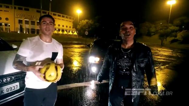 Sem jogar há 2 meses, Buffarini ostenta carrão e estrela clipe de cantor argentino em SP