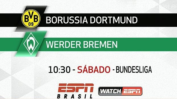 Bundesliga: acompanhe neste sábado Dortmund x Werder Bremen, às 10:30h, na ESPN Brasil e WatchESPN