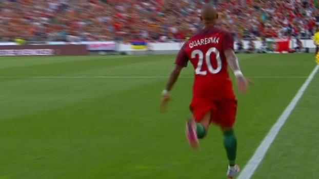 e91a8aefe5406 Quaresma coloca curva inacreditável na bola e guarda no ângulo em amistoso  de Portugal