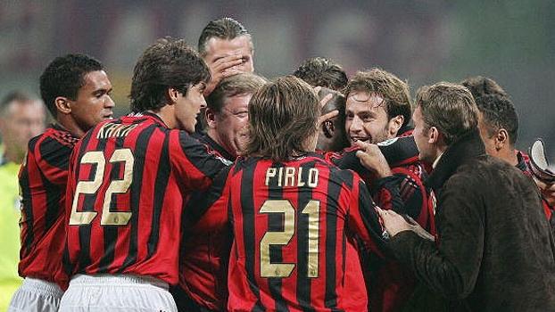 Pirlo, pelo Milan, Kaká e Seedorf; Milan venceu a Juventus por 3 a ...