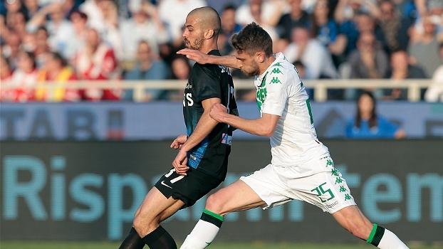 Atalanta busca gol no fim em casa e empata com o Sassuolo por 1 a 1