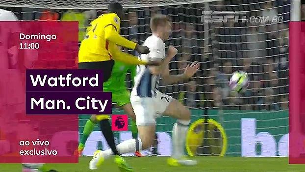 Jesus na tela dos canais ESPN! City visita o Watford neste domingo, às 11h; WatchESPN também transmite