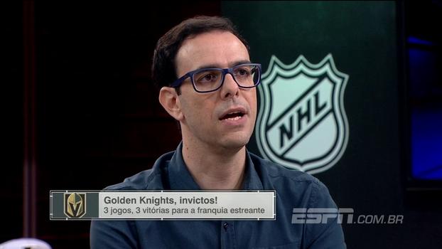 Que começo! Thiago Simões analisa bom início de temporada do estreante Vegas Golden Knights