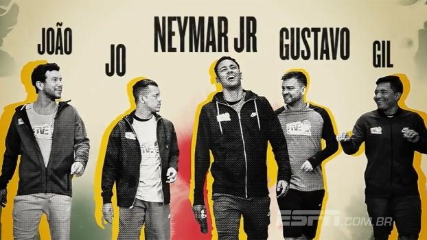 Casquinha matadora e habilidade: Neymar e 'parças' disputam desafio de Fut Toc