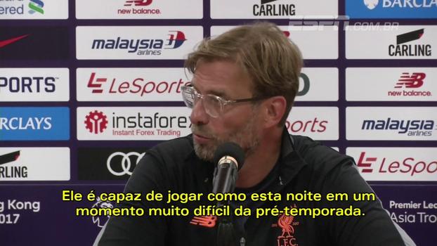 'Coutinho ama o Liverpool', diz Klopp sobre futuro do brasileiro