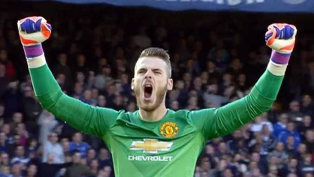 0acc4a53d8 De Gea comemora quase gol de Rooney e paga mico em Chelsea x United ...