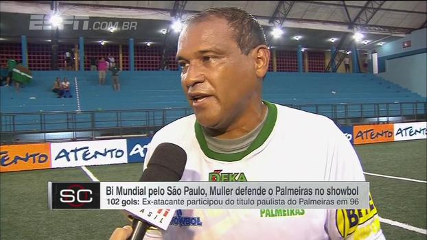 'Homem gol' no showbol, Muller explica por que escolheu jogar pelo Palmeiras ao invés do São Paulo