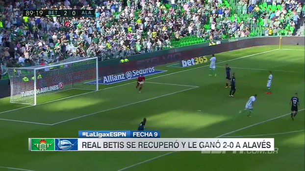 Assista aos gols da vitória do Real Betis sobre o Alavés por 2 a 0!