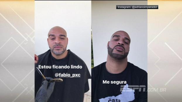 Adriano Imperador posa com novo visual e manda recado: 'Me segura!'