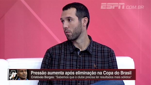 'O erro do Vasco foi contratar o Cristóvão', diz Gustavo Hofman
