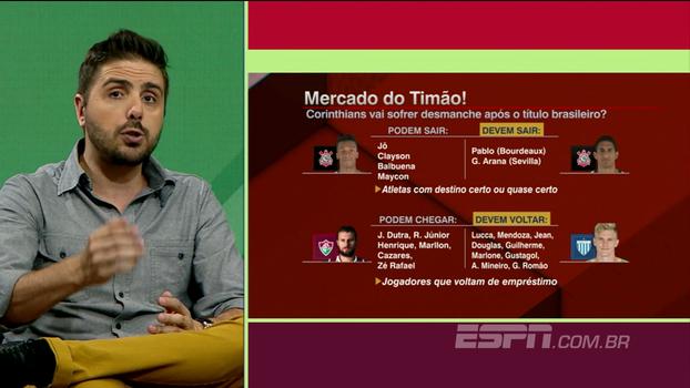Nicola destaca propostas do exterior por quatro atletas do Corinthians; Balbuena é o que mais preocupa