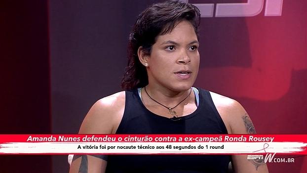 Amanda Nunes fala sobre a importância da namorada na sua carreira como lutadora