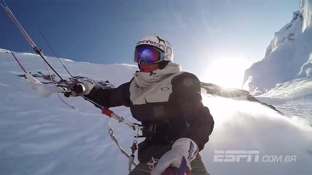Atleta de kiteboarding aceita desafio e desbrava áreas remotas do Alasca