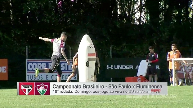 Veja como foi a manhã de treinos do São Paulo, que se prepara para encarar o Fluminense no Morumbi