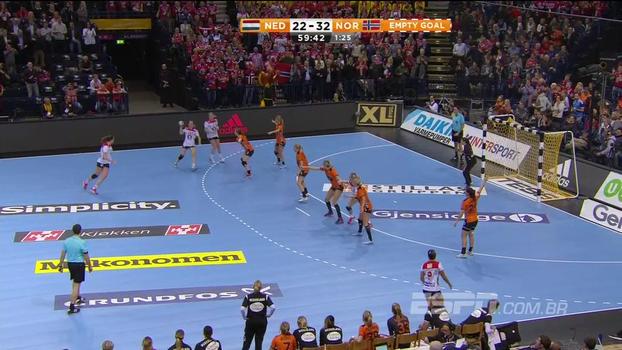 Veja como foi o passeio da Noruega contra a Holanda pela semifinal do Mundial de Handebol