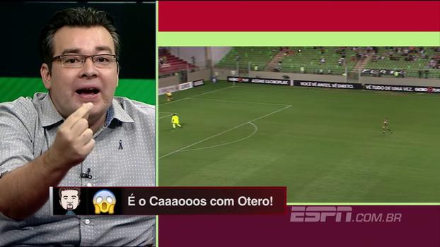 Rômulo Mendonça cita 'Bertoldo Brecha' para narrar gol de Otero: 'Me engravida!'