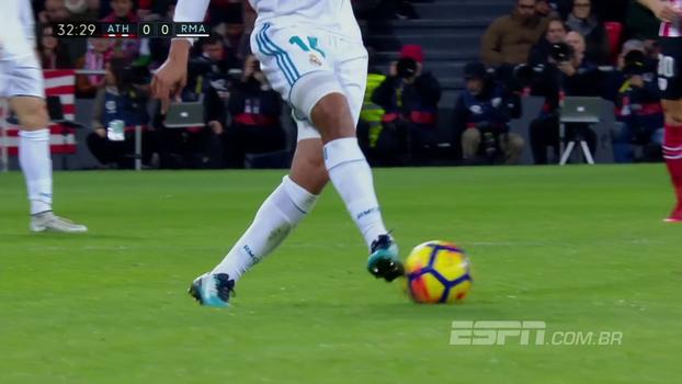 Veja a caneta desconcertante que Casemiro deu em Susaeta, do Athletic Bilbao