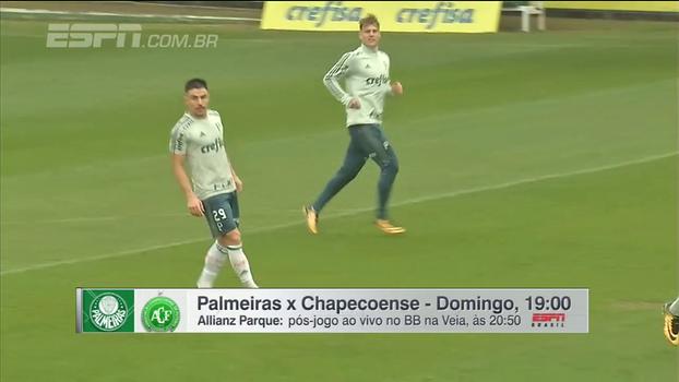 Moisés e Guerra no meio, retorno de Willian... Gabriela Moreira mostra opções do Palmeiras e o que pensa Cuca para jogo com a Chape