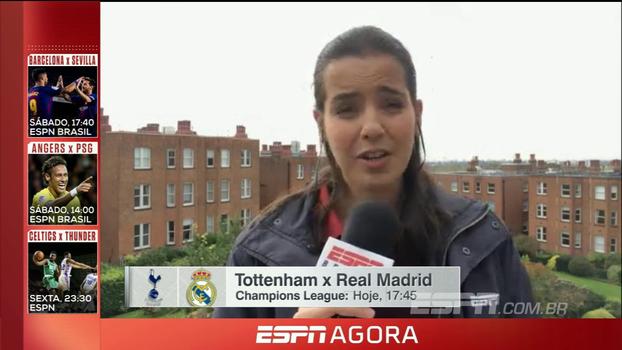 Quarta-feira tem Tottenham x Real Madrid e Napoli x City na Champions League; Natalie Gedra traz as novidades