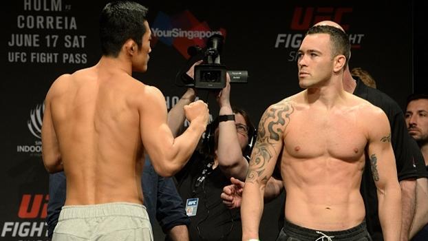 UFC Singapura: Covington lança beijinho durante encarada, e Hyun Kim tem reação impagável