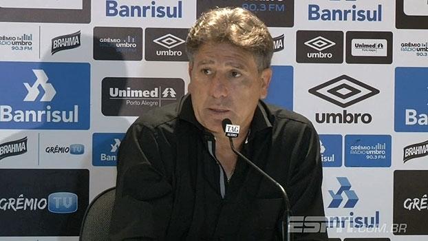 Renato Gaúcho destaca classificação, mas avalia: 'O jogo não me agradou'