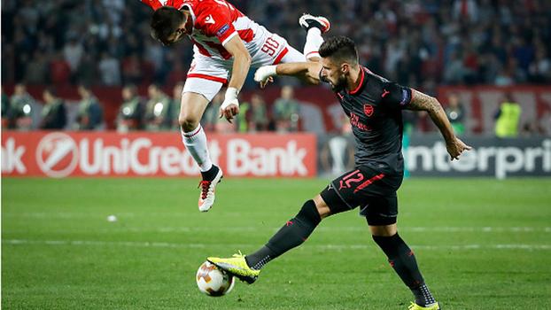 Europa League: Gol de Estrela Vermelha 0 x 1 Arsenal
